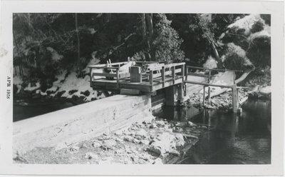 Carpentry Gang at Bob's Lake April 1958