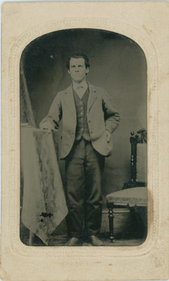 Young man Newboro c. 1875