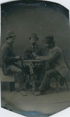 William Bass and friends playing cards
