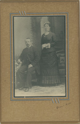 William Bass and Maria E. Warren Bass' Wedding Picture  in 1883