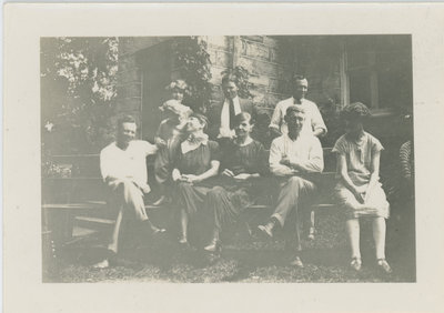 Fleming family at Chaffey's Lockmaster's House