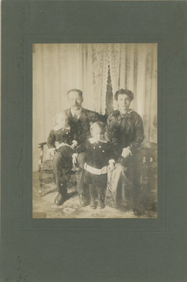 Captain Ned Fleming, Lottie Sturgeon Fleming, Fred and Adelaide