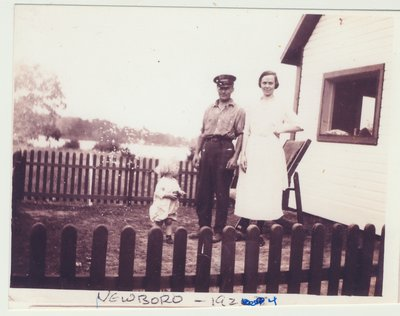 Herman and Alice Thompson Warren with their son Don at Newboro lock station 1923