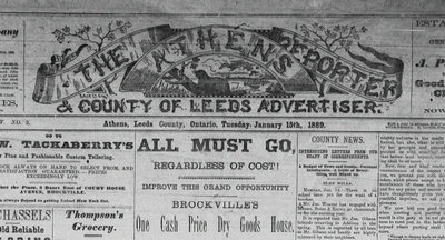 Athens Reporter and County of Leeds Advertiser