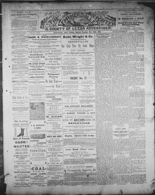 Farmersville Reporter and County of Leeds Advertiser (18840522), 27 Nov 1888