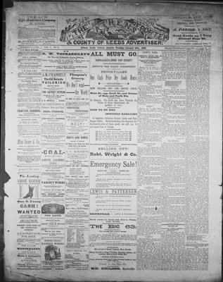 Athens Reporter and County of Leeds Advertiser (18920112), 15 Jan 1889