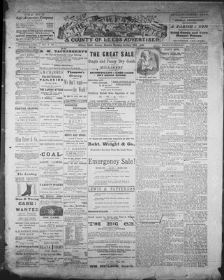 Athens Reporter and County of Leeds Advertiser (18920112), 29 Jan 1889