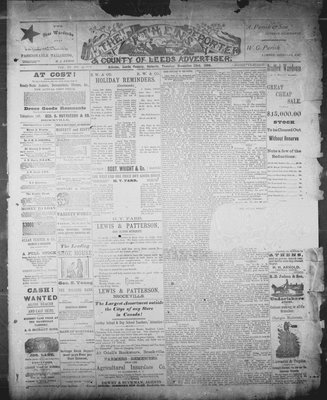 Athens Reporter and County of Leeds Advertiser (18920112), 23 Dec 1890
