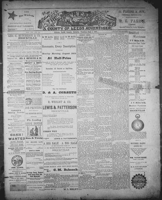 Athens Reporter and County of Leeds Advertiser (18920112), 1 Sep 1891