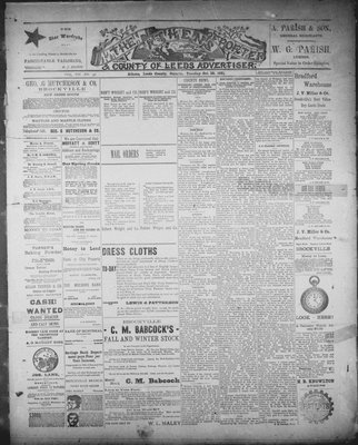 Athens Reporter and County of Leeds Advertiser (18920112), 27 Oct 1891