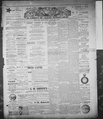 Athens Reporter and County of Leeds Advertiser (18920112), 3 Nov 1891