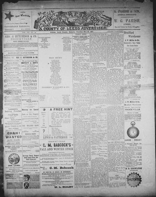 Athens Reporter and County of Leeds Advertiser (18920112), 10 Nov 1891