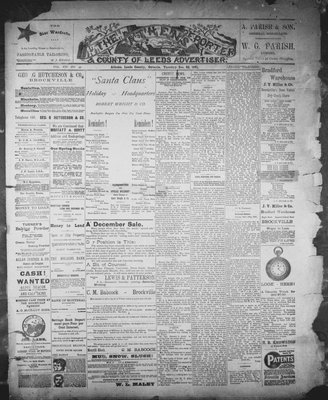 Athens Reporter and County of Leeds Advertiser (18920112), 22 Dec 1891