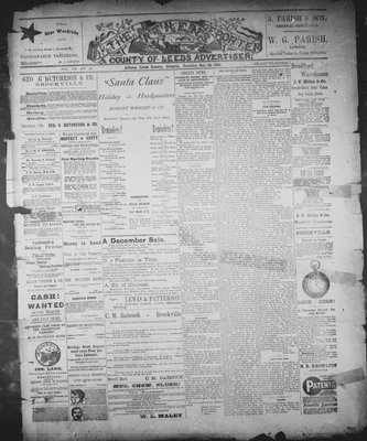 Athens Reporter and County of Leeds Advertiser (18920112), 29 Dec 1891