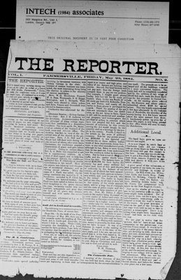 Farmersville Reporter and County of Leeds Advertiser (18840522), 23 May 1884