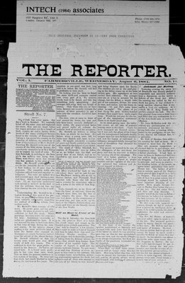 Farmersville Reporter and County of Leeds Advertiser (18840522), 6 Aug 1884