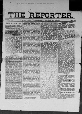 Farmersville Reporter and County of Leeds Advertiser (18840522), 11 Feb 1885