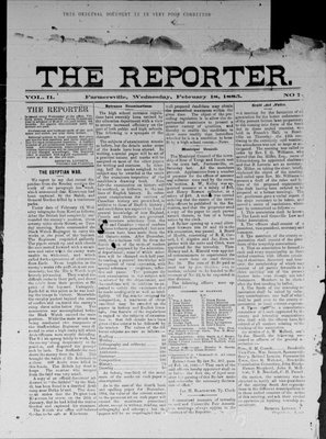 Farmersville Reporter and County of Leeds Advertiser (18840522), 18 Feb 1885