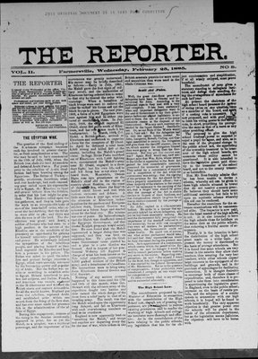 Farmersville Reporter and County of Leeds Advertiser (18840522), 25 Feb 1885