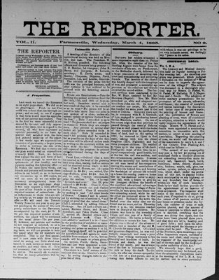 Farmersville Reporter and County of Leeds Advertiser (18840522), 4 Mar 1885