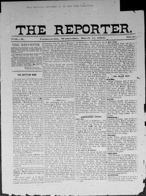 Farmersville Reporter and County of Leeds Advertiser (18840522), 11 Mar 1885