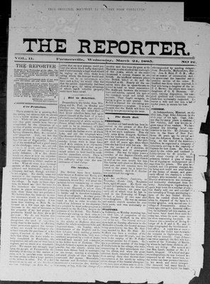 Farmersville Reporter and County of Leeds Advertiser (18840522), 25 Mar 1885