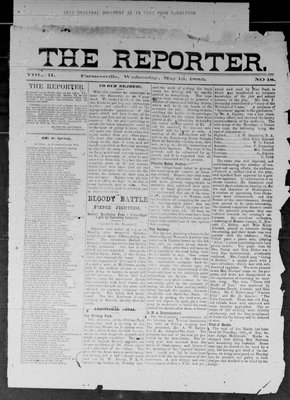Farmersville Reporter and County of Leeds Advertiser (18840522), 13 May 1885