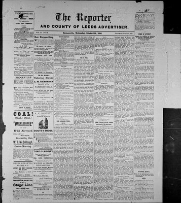Farmersville Reporter and County of Leeds Advertiser (18840522), 6 Oct 1886