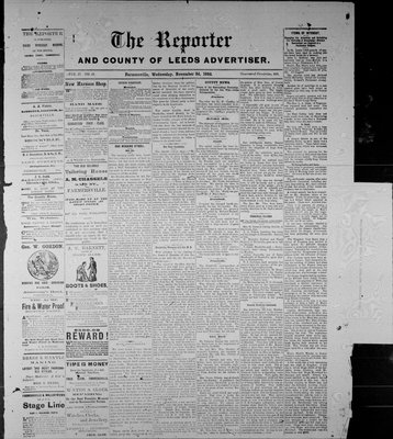Farmersville Reporter and County of Leeds Advertiser (18840522), 3 Nov 1886