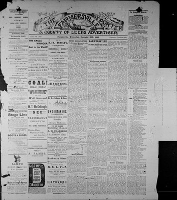 Farmersville Reporter and County of Leeds Advertiser (18840522), 29 Dec 1886
