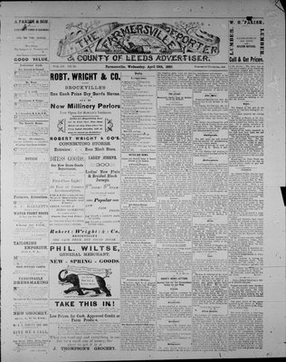 Farmersville Reporter and County of Leeds Advertiser (18840522), 13 Apr 1887