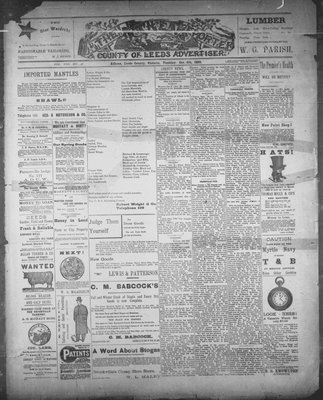 Athens Reporter and County of Leeds Advertiser (18920112), 4 Oct 1892