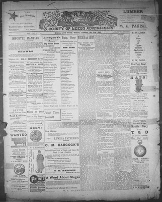 Athens Reporter and County of Leeds Advertiser (18920112), 11 Oct 1892