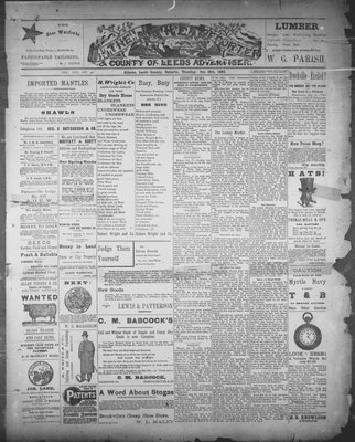 Athens Reporter and County of Leeds Advertiser (18920112), 18 Oct 1892