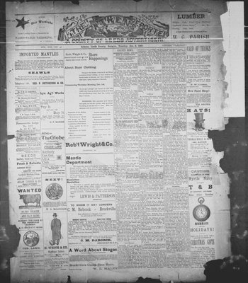 Athens Reporter and County of Leeds Advertiser (18920112), 6 Dec 1892