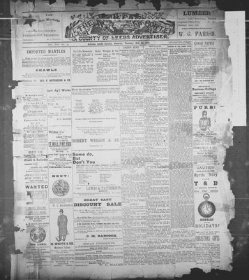 Athens Reporter and County of Leeds Advertiser (18920112), 20 Dec 1892