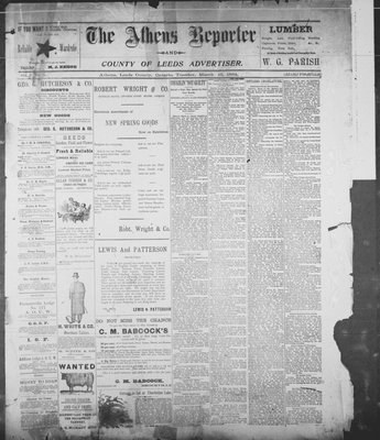 Athens Reporter and County of Leeds Advertiser (18920112), 13 Mar 1894