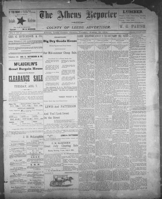 Athens Reporter and County of Leeds Advertiser (18920112), 21 Aug 1894