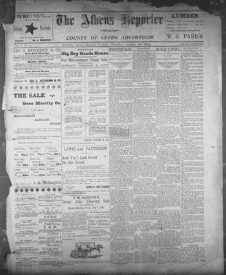 Athens Reporter and County of Leeds Advertiser (18920112), 28 Aug 1894