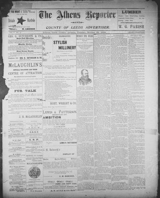 Athens Reporter and County of Leeds Advertiser (18920112), 23 Oct 1894