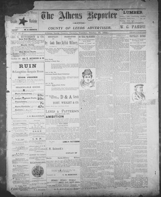 Athens Reporter and County of Leeds Advertiser (18920112), 30 Oct 1894