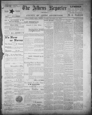 Athens Reporter and County of Leeds Advertiser (18920112), 20 Nov 1894