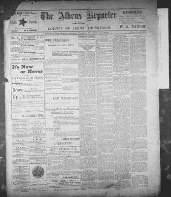 Athens Reporter and County of Leeds Advertiser (18920112), 27 Nov 1894