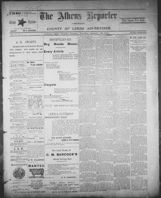 Athens Reporter and County of Leeds Advertiser (18920112), 29 Jan 1895