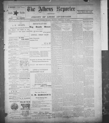 Athens Reporter and County of Leeds Advertiser (18920112), 5 Feb 1895