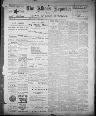 Athens Reporter and County of Leeds Advertiser (18920112), 26 Feb 1895