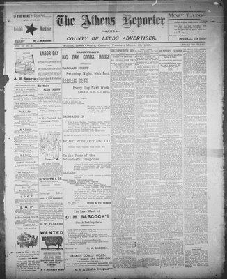 Athens Reporter and County of Leeds Advertiser (18920112), 19 Mar 1895