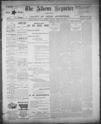 Athens Reporter and County of Leeds Advertiser (18920112), 26 Mar 1895