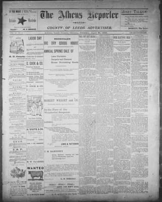 Athens Reporter and County of Leeds Advertiser (18920112), 23 Apr 1895