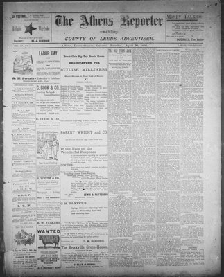 Athens Reporter and County of Leeds Advertiser (18920112), 30 Apr 1895